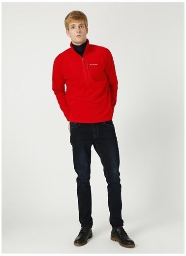 Columbia Columbia XM6410 Fast Trek III Half Zip Fleece Erkek    Sweatshirt Kırmızı